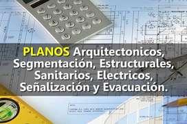 Elaboración de Planos Arquitectónicos, Estructurales, Eléctricos, Señalización, Evacuación, Instalaciones Sanitarias