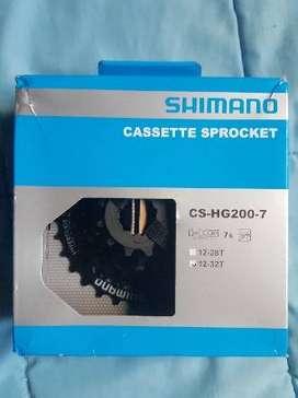 Piñón Shimano a cassette 7 velocidades