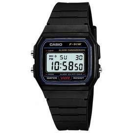 Reloj Casio F-91 100% Original Nuevo Digital Sumergible