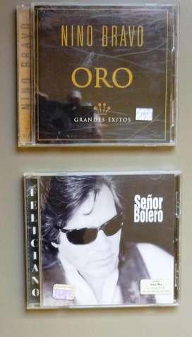 LOTE X 2 CD NINO BRAVO (ORO) Y JOSE FELICIANO (SEÑOR BOLERO)