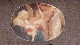 """Mesa de la obra de arte """"La canción de los ángeles"""" de Bouguereau"""