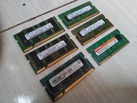 4 Memorias Ram Ddr2 Ddr3 1gb 2gb