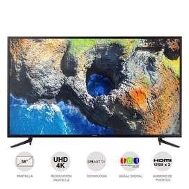 "TV LED 147CMS (58"")UHD SMART SAMSUNG 58 Pulgadas Smart Tv UN58MU6120"