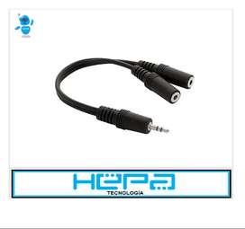Cable Adaptador Convertidor Plug 2 A 1 Audio Y Micrófono