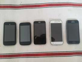 Celulares Samsung batería no carga los otros si.