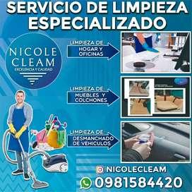 Limpieza de muebles colchones y de interiores de vehículo