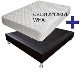 NUEVO cama base colchón semi Ortopédico mas Regalo descuentos al por MAYOR