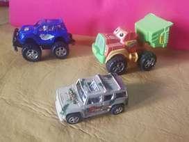 Lote 3 Camioncitos Plásticos