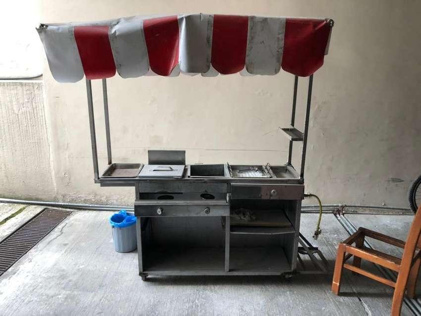 Venta de carrito de salchipapa .empanadas hamburgesas