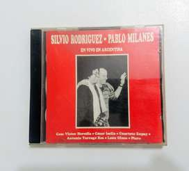 """CD de Silvio Rodriguez y Pablo Milanés """"En vivo en Argentina"""""""