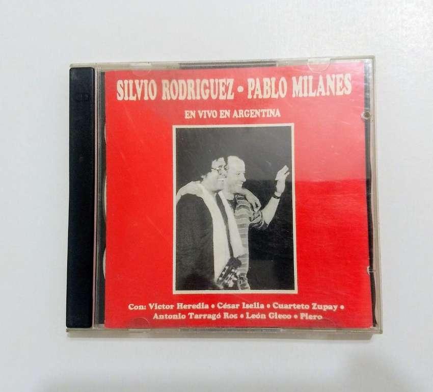 """CD de Silvio Rodriguez y Pablo Milanés """"En vivo en Argentina"""" 0"""