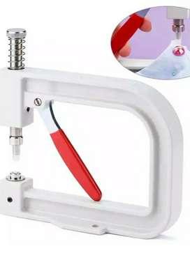 Maquina manual troqueladora para pegar perlas con uñas o REMACHES