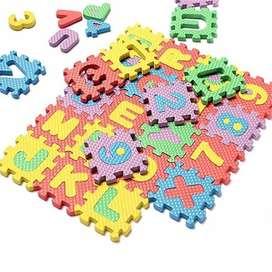 Tapete Foamy Mini Rompecabezas Alfabeto / Números