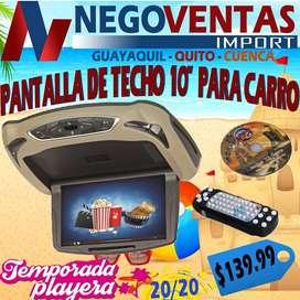 PANTALLA DE TECHO DE 10 PL PARA CARRO