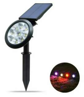 Focos Solares Led Impermeable Exteriores 7 Colores Led
