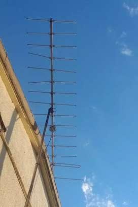 Antena con coaxial
