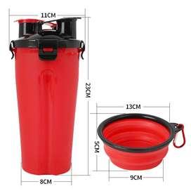 Alimentador Portátil Para Mascotas Agua Y Cuido