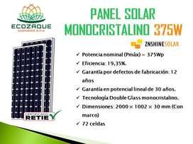 PANEL SOLAR MONOCRISTALINO 375W