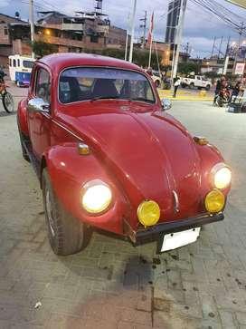 Volkswagen escarabajo año 1974 color rojo