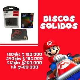 DISCOS SOLIDOS (DESDE 120GBS)