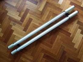 Lámpara de techo para 2 Tubos  incandescentes de 120 cm  incluye los  2 Tubos De Luz