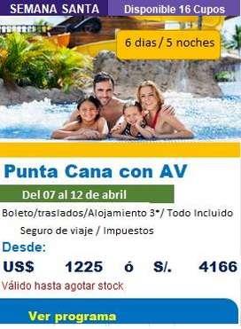 Oferta de viaje a Punta Cana en semana santa