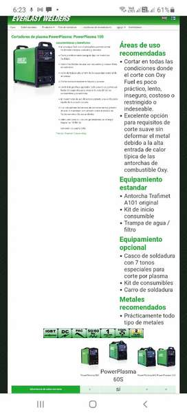 Vendo Cortador plasma Power Plasma 100