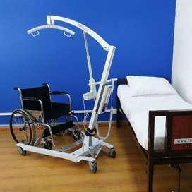Grúa eléctrica de desplazamiento para pacientes
