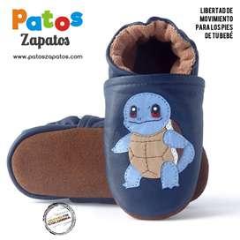 Zapatos para bebés que empiezan a caminar. Pokemon Squirtle