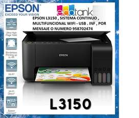 Impresora Epson L3150 Wifi sistema continuo