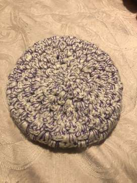 Gorro tipo boina en lana