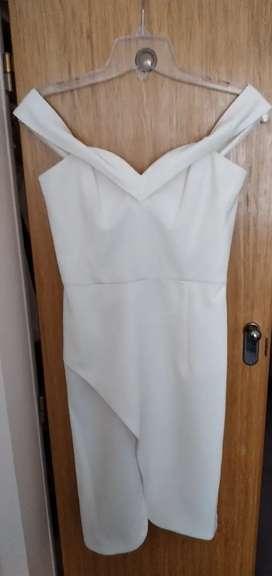 Las Oreiro Couture vestido de fiesta natural nuevo