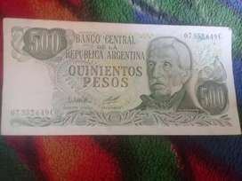 Vendo Billete de $500 Argentinos