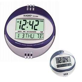 Reloj Digital de Pared Ovalado Alarma Temperatura Fecha Kadio KD-3806