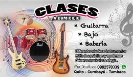 Clases de guitarra bajo y bateria a domicilio o en estudio Quito  Cumbayá  Tumbaco...