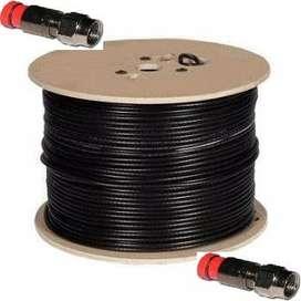 Cable Coaxial RG6 Por Rollo 305 Metros Color Negro