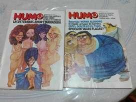 Liquido 2 antiguos números de la revista HUMOR de 1981.