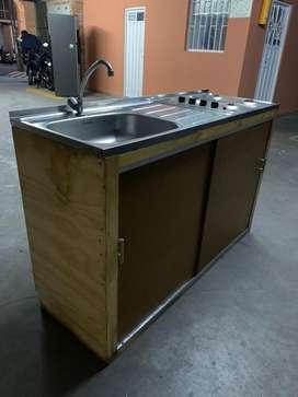 Mueble de cocina estufa + lavaplatos