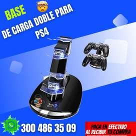 BASE DE CARGA DOBLE PARA PS4 NUEVO