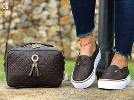 Zapatos Louis vuiton de dama y bolso