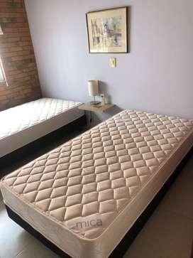 Base cama mas colchón sencillo