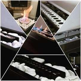 Chimeneas Bioetanol desde 180.000. En adelante medidas especiales cocinas muebles closet centros de entrenimiento.