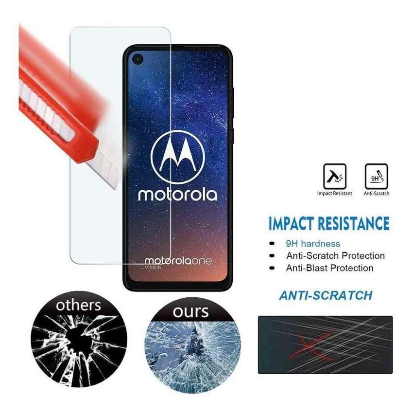 Film Vidrio Templado Plano Glass Motorola Moto One Vision 0