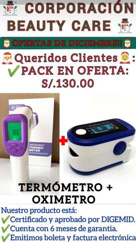 PACK EN OFERTA!! TERMÓMETRO + OXIMETRO