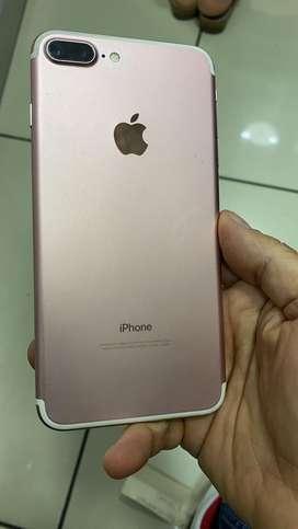 Apple iPhone 7 plus 128gb rosado impecable estado cargador original