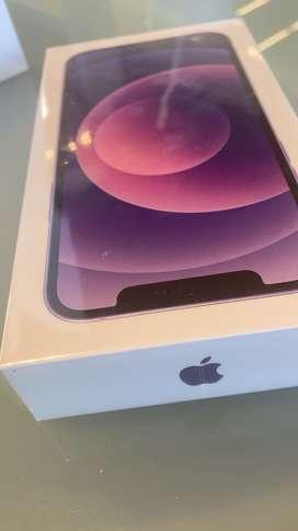 iPhone 12 color púrpura de 64 sellado de caja