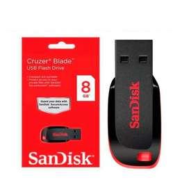 Lote de 6 memorias USB Sandisk 8GB