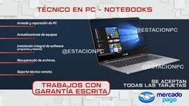 SERVICIO TECNICO PC NOTEBOOKS
