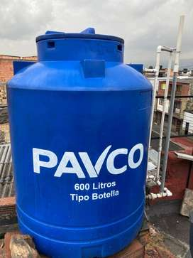 Tanque de agua 600 litros tipo botella