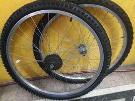 Juego de ruedas rodado 26 usadas completas